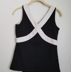 Lululemon wet dry warm tank black and white